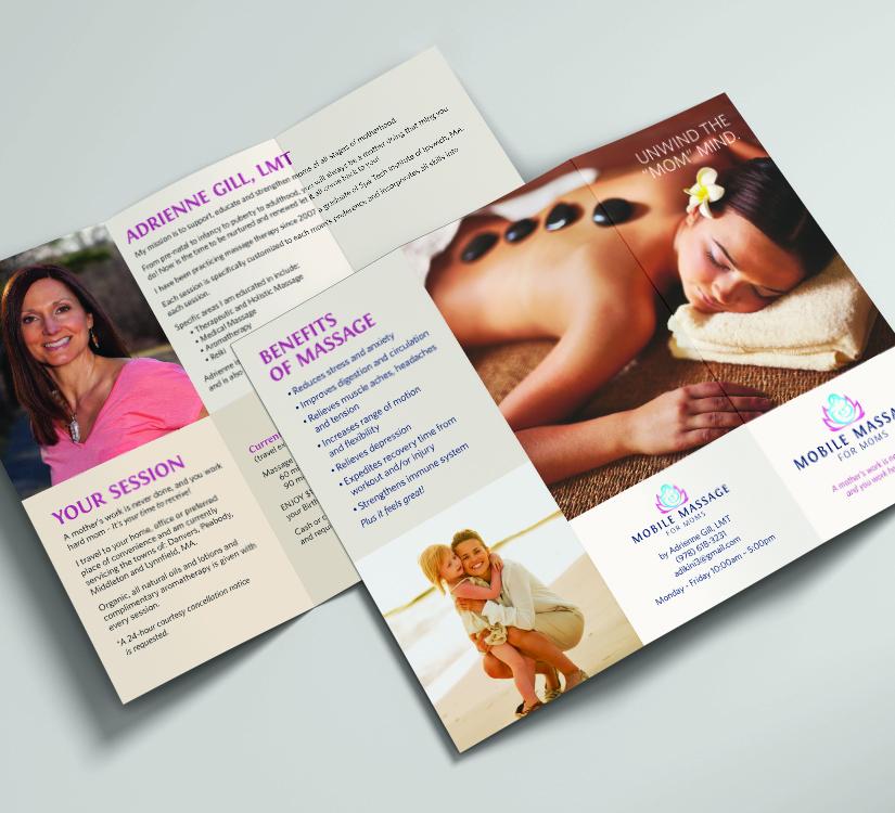 Mobile Massage for Moms - Trifold Brochure