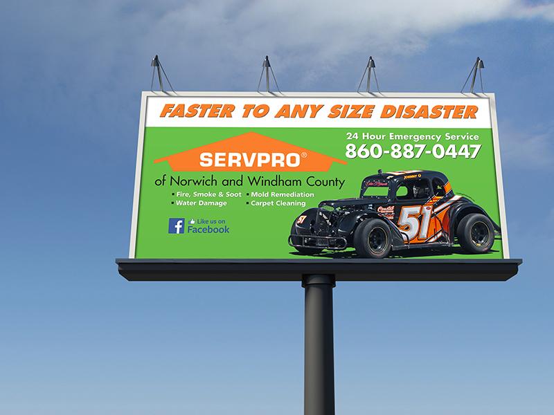 SERVPRO of Norwich & Windham County Billboard