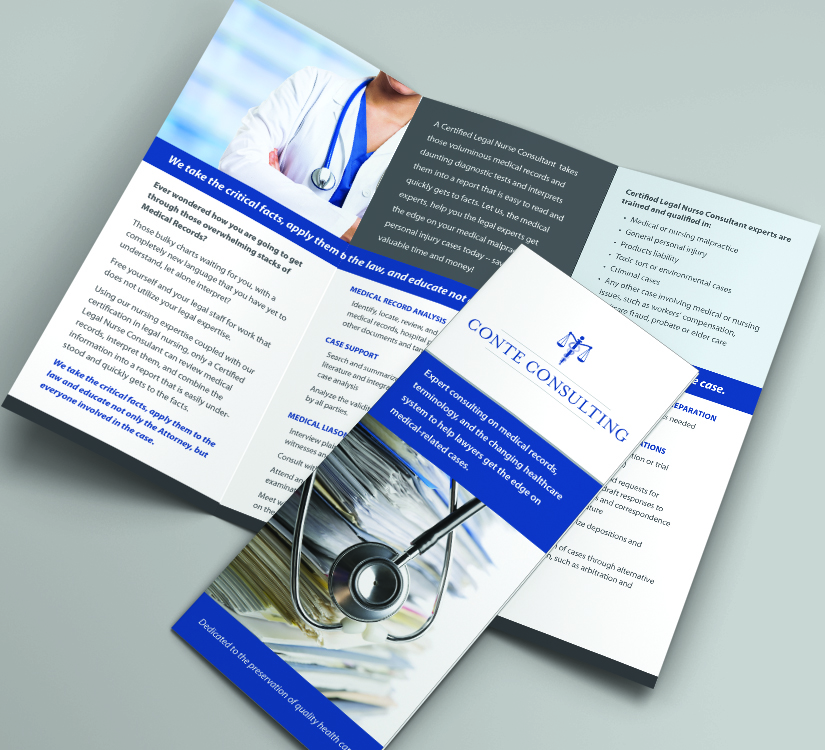 Conte Consulting - Trifold Brochure