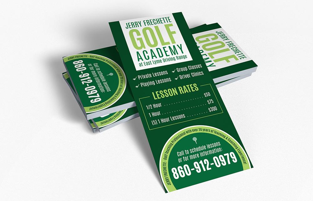 Jerry Frechette Golf Academy Rack Card